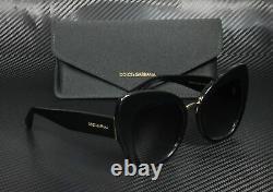 DOLCE & GABBANA DG4319 501 8G Black Grey Gradient 51 mm Women's Sunglasses