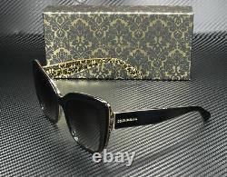 DOLCE & GABBANA DG4348 32158G Black Damascus Black Grey 54 mm Women's Sunglasses