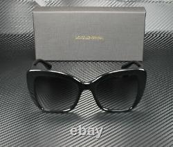 DOLCE & GABBANA DG4348 501 8G Black Grey Gradient 54 mm Women's Sunglasses