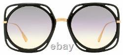 Dior Cutout Sunglasses Direction 26S0D Black/Copper Gold 56mm