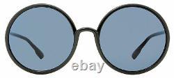 Dior Round Sunglasses SoStellaire 3 807A9 Black/Gold 59mm