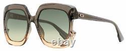Dior Square Sunglasses Gaia 7HHPR Gray-Pink Gradient 58mm