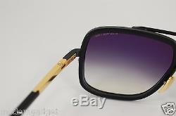 Dita Mach One Titanium Matt Black & Shiny Gold Drx 2030-g-59 18k Sunglasses