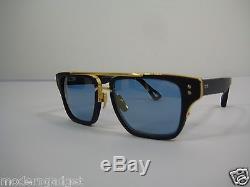 Dita Mach Three Titanium Drx 2059-c-nvy-gld -55 18k Gold Sunglasses
