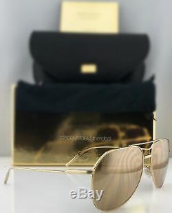 Dolce & Gabbana Gold Edition Aviator Sunglasses DG2166 K02/F9 18K Gold Rose Gold