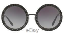 Dolce & Gabbana Round Sunglasses Mambo DG 2170B black/grey Gradient 01/8G