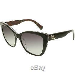 Dolce & Gabbana Women's Gradient DG4216-29408G-55 Black Square Sunglasses