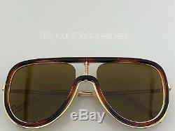 Fendi Aviator Sunglasses FF M0068/S Gold & Havana Frame Brown Lens 08670 57mm