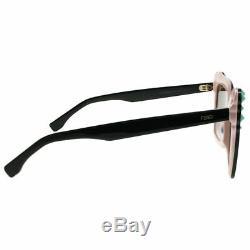 Fendi Can EYE FF 0260 3H2 53 Black Pink Plastic Sunglasses Brown Gradient Lens