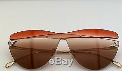 Fendi Cateye Mask Sunglasses FF0400/S Frameless Multicolored Lens MGTHA 2019 NEW