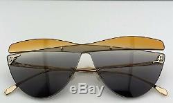 Fendi Cateye Mask Sunglasses FF0400/S Frameless Multicolored Lens XYO9O 2019 NEW