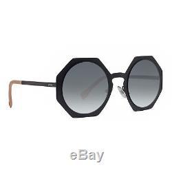 Fendi FF 0152/S 003 JJ Facets Matte Black Grey Gradient Geometric Sunglasses