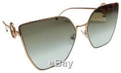 Fendi F IS FENDI FF 0323/S DDB/86 Gold Cooper Grey Green Gradient Sunglasses