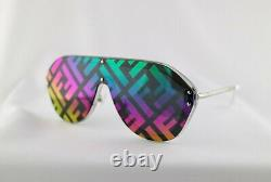 Fendi Fabulous FFM0039 F74R3 Sunglasses Silver Frame Multi Lens Unisex Shield