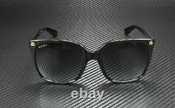 GUCCI GG0022S 001 Black Cat Eye Women's Authentic Sunglasses 57mm