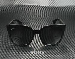 GUCCI GG0034S 001 Rectangular Square Black Grey 54 mm Women's Sunglasses