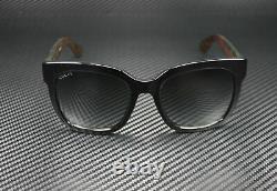 GUCCI GG0034S 002 Rectangular Square Black Grey 54 mm Women's Sunglasses