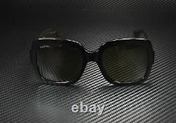 GUCCI GG0036S 002 Rectangular Square Black Brown 54 mm Women's Sunglasses