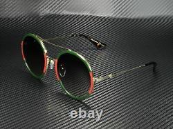 GUCCI GG0061S 003 Round Oval Gold Green 56 mm Women's Sunglasses