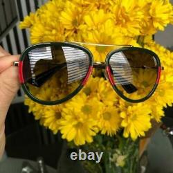 GUCCI GG0062S 003 Aviator Gold Green 57 mm Women's / Men's Sunglasses