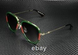 GUCCI GG0062S 003 Aviator Gold Green 57 mm Women's Sunglasses