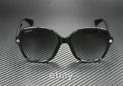 GUCCI GG0092S 001 Rectangular Square Black Grey 55 mm Women's Sunglasses