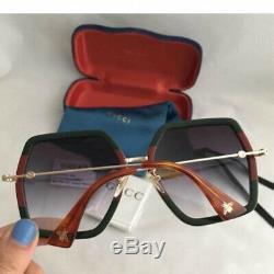 GUCCI GG0106S 007 Grey Gradient Lens Square Unisex Sunglasses