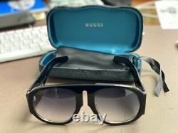 GUCCI GG0152S BLACK Men's / Women's Frame Gradient Lens Oversized Sunglasses