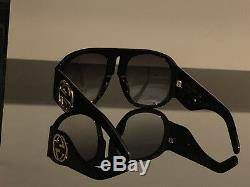 GUCCI GG0152S Black Frame/Gradient Green Lens Women's Sunglasses 100% Authentic