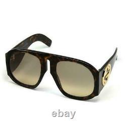 GUCCI GG0152S Havana Lens Tortoiseshell Acetate Frame Oversized Sunglasses