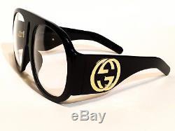 GUCCI GG0152/S Black Acetate Frame Women's Sunglasses %100 Authentic