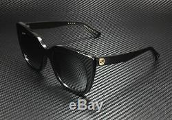 GUCCI GG0163S 001 Cat Eye Black Grey 51 mm Women's Sunglasses