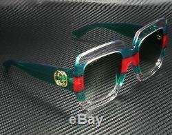 GUCCI GG0178S 001 Rectangular Square Multicolor Green 54 mm Women's Sunglasses