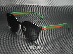 GUCCI GG0416Sk 002 Round Oval Black Grey 55 mm Women's Sunglasses