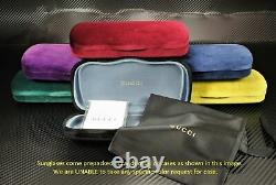 GUCCI GG0459S 001 Rectangular Square Black Black Gold Grey 54 Women's Sunglasses