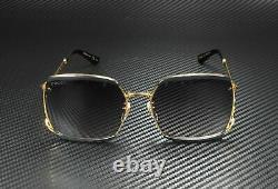 GUCCI GG0593SK 001 Square Black Gold Black Grey 59 mm Women's Sunglasses