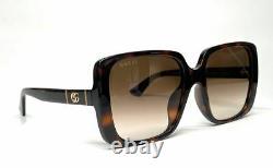 GUCCI GG0632SA 002 Havana Square Women's Sunglasses 56 mm