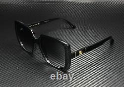 GUCCI GG0632S 001 Square Black Shiny Black Grey 56 mm Women's Sunglasses