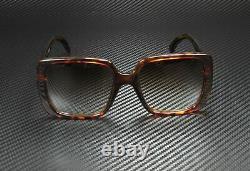 GUCCI GG0632S 002 Square Havana Gold Havana Brown 56 mm Women's Sunglasses