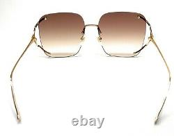 GUCCI GG0646S 002 Gold Women's Authentic Sunglasses 60 mm