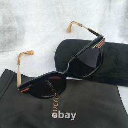 GUCCI gg0281 black/gold frame sunglasses