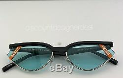 Gentle Monster X Fendi Sunglasses FF0369/S Dark Gray Frame Light Blue Lens KB71P