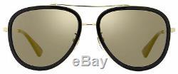 Gucci Aviator Sunglasses GG0062S 001 Gold/Black 0062