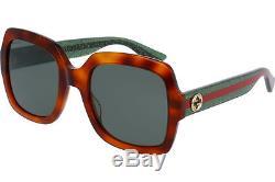 Gucci GG0036S-003 Havana Green Frame / Green Lenses