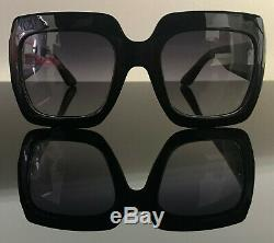 Gucci GG0053S 001 54mm Oversize Black Square Women Sunglasses with Velvet case