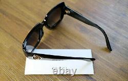 Gucci GG0053S 54mm Oversize Black Square Women Sunglasses with Velvet case