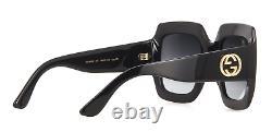 Gucci GG0053S Authentic Oversized Square Black Women Sunglasses