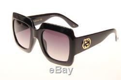 Gucci GG0053 001 Oversized Square Sunglasses in Black Authentic 100% UV