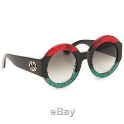 Gucci GG0084S 001 Oversize Round Women Sunglasses 100% UV