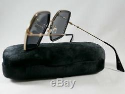 Gucci GG0106S 001 Gold/Black Hexagonal Sunglasses